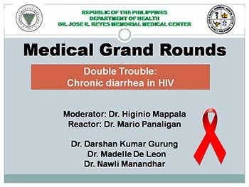 Chronic diarrhea in HIV Family Case