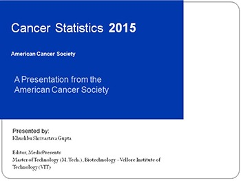 Cancer statistics 2015 - american cancer society