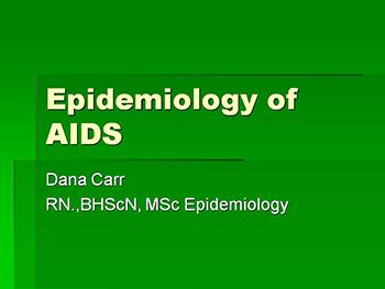 Epidemiology Of Aids