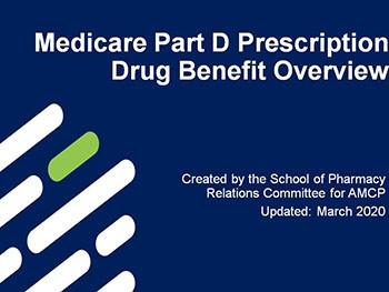 Medicare Part D Prescription Drug Benefit Overview