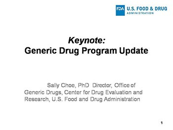 Generic Drug Program Update