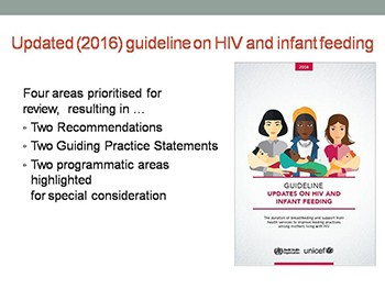 WHO Guidelines on HIV AND INFANT FEEDING