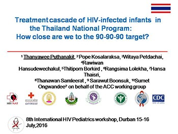 Treatment cascade of HIV-infected infants in the Thailand National Program