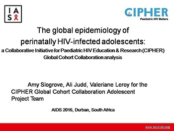 The global epidemiology of perinatally HIV-infected adolescents