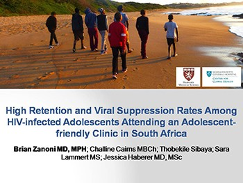 High Retention and Viral Suppression Rates Among HIV-infected Adolescents Attending an Adolescent- friendly Clinic in South Africa