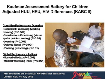 Neuropsychological performance in African children with HIV enrolled in a multi-site anti-retroviral clinical trial