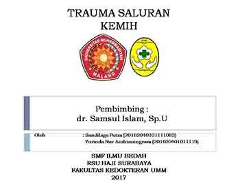 Trauma Urinary