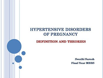 Hypertensive Disorders Of Pregnancy