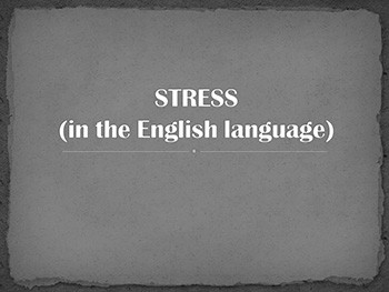 Stress in speech