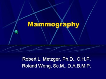 Mammography Find Cancer