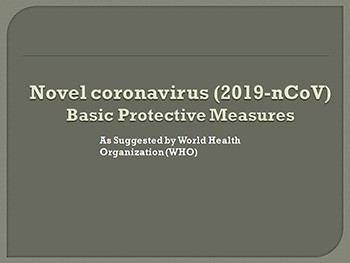 Basic Protective Measures for Novel coronavirus (2019-nCoV)