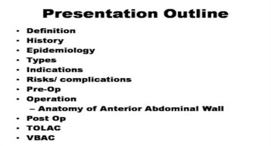 Caesarean Section Medical Presentation