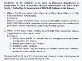 India 21 Days Lockdown Government Guidelines and Directives