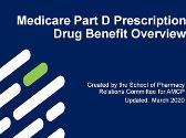 Medicare Part D Prescription Drug Benefit Overview
