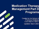 Medication Therapy Management Part D Programs