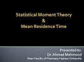MRT mean residence time