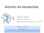 Arthritis An Introduction