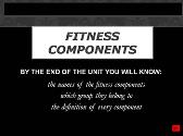 Fitness Components