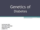 Genetics Of Diabetes