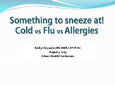 Cold Vs Flu Vs Allergy