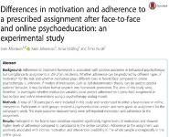 Differences in Motivation and Adherence Medical Notes