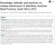 Malaria South Africa Medical Notes