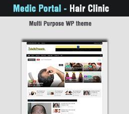 Medical Portal - Hair Clinic Wordpress Theme