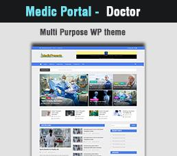 Medical Portal - Doctor Wordpress Theme