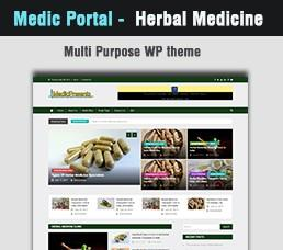 Medical Portal - Herbal Medicine Wordpress Theme