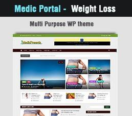 Medical Portal - Weight Loss Wordpress Theme